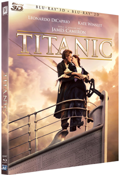 James Cameron Titanic Blu-ray Poster Affiche